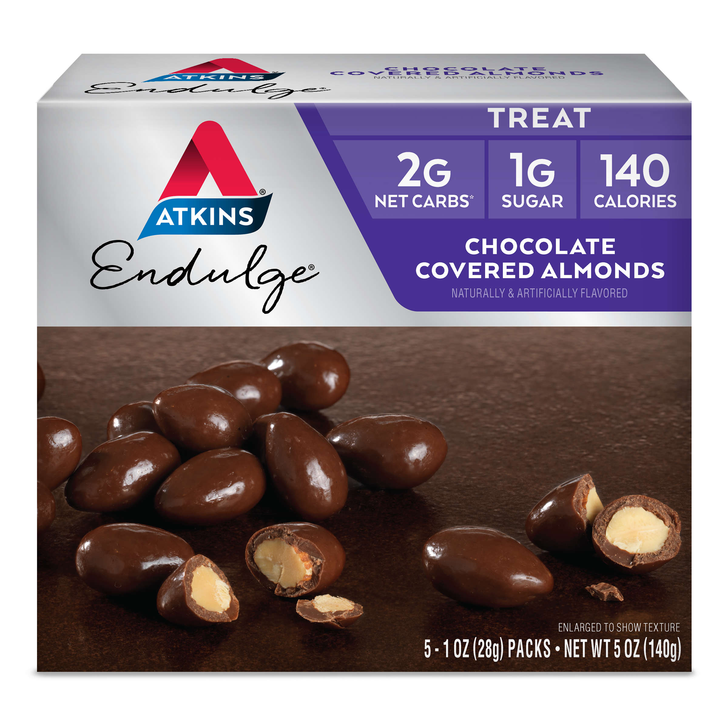 Atkins Endulge Chocolate Covered Almonds, 1oz, 5-pack (Treat)