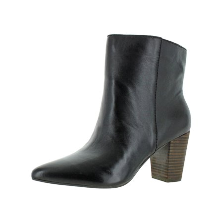 Lucky Brand Womens Yubal Leather Stacked Heel Booties