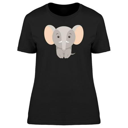 Cute Cartoon Baby Elephant Tee Women's -Image by Shutterstock (Cartoon Elephant)