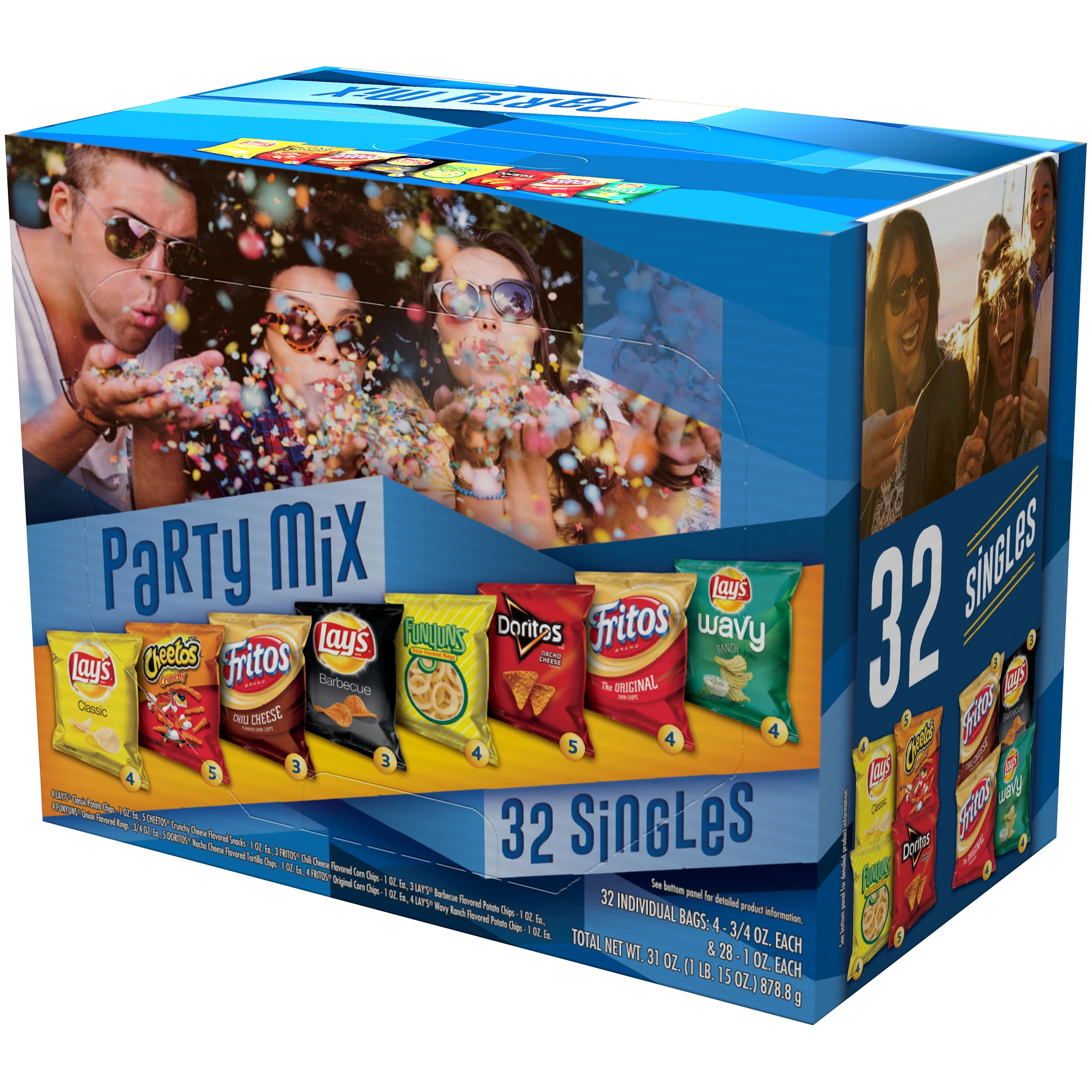 Frito-Lay Party Mix Variety Pack, 32 count, 31 oz Box
