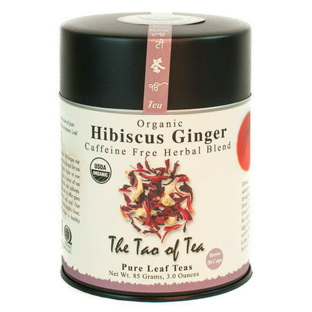 The Tao of Tea, Organic Hibiscus Ginger Herbal Tea, Loose Leaf Tea, 3 Oz (Organic Loose Tea)
