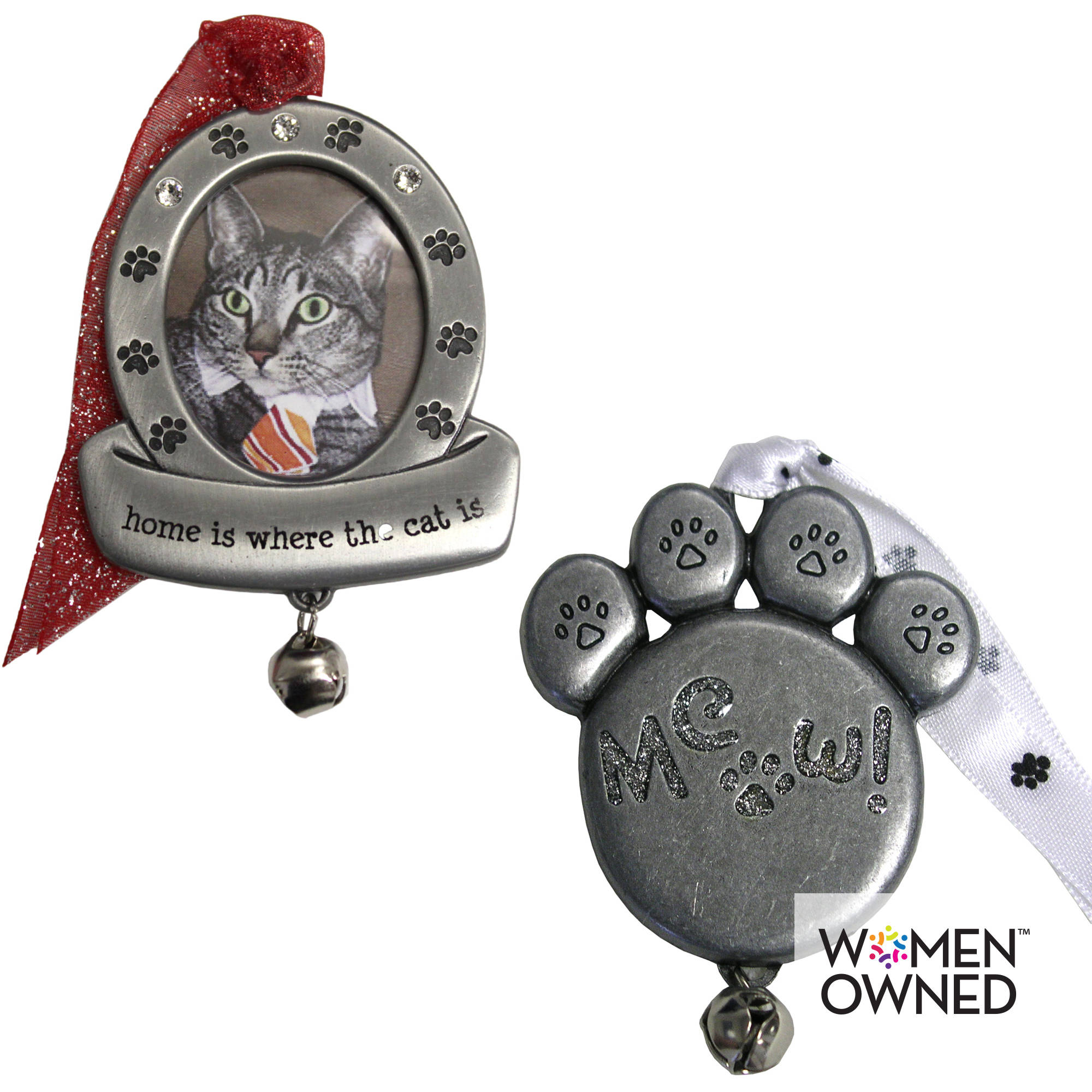Personalized Gloria Duchin Cat Paw Ornament Set