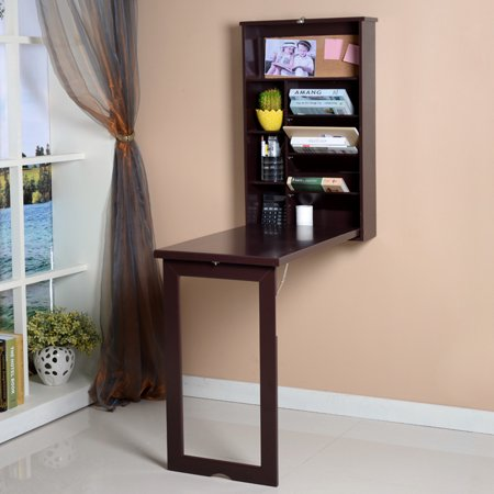 viscologic fold out convertible wall mount desk brown. Black Bedroom Furniture Sets. Home Design Ideas