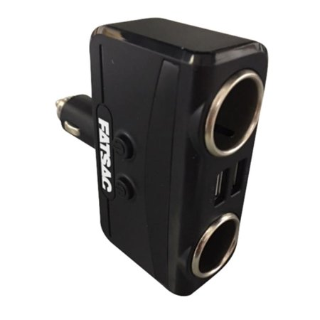 FATSAC Dual Socket 12-24V w-Dual USB Ports - image 1 of 1
