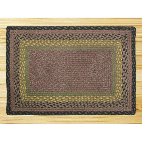 Earth Rugs Brown/Black/Charcoal Braided Area Rug