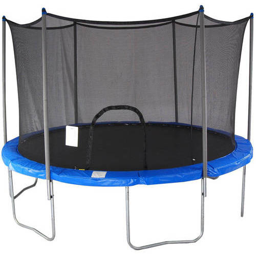Airzone 15-Foot Trampoline, with Safety Enclosure Net, Blue
