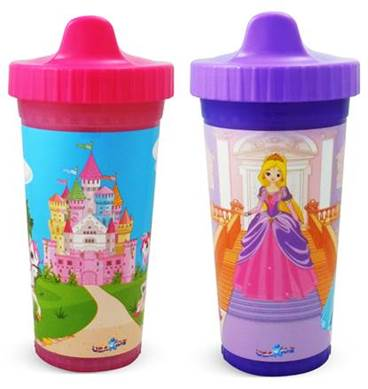 USA Kids Insulated Hard Spout Sippy Cup - 2 pack