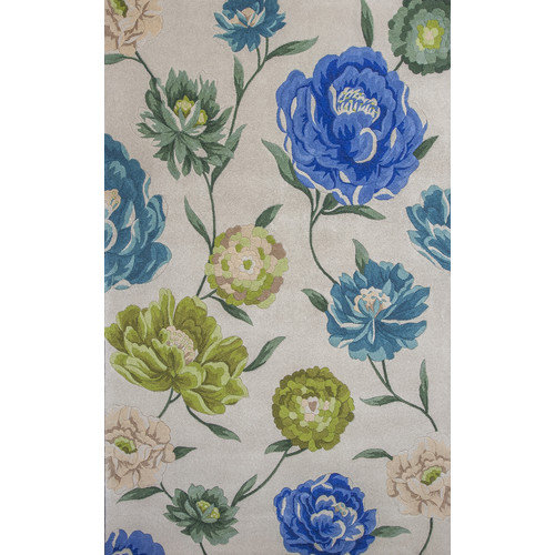 KAS Rugs Catalina Ivory Floral Oasis Area Rug