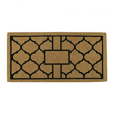 Home & More 18008PLAIN3672 Pantera Extra-Thick Doormat, 36 x 72 x 1.50, Natural/Black