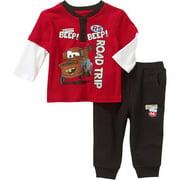 Newborn Baby Boy Long Sleeve Tee and Pant Set