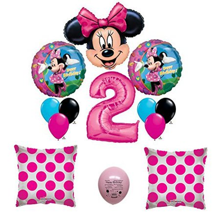 Minnie Mouse Party Supplies #2 Second First Happy Birthday Balloon Party Set