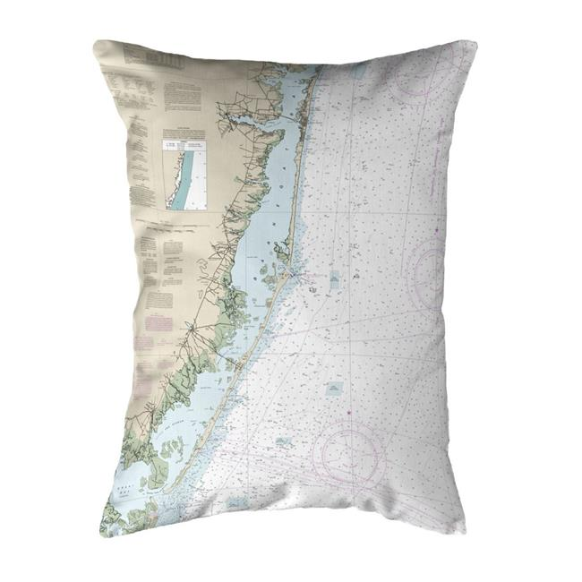 Betsy Drake NC12323 16 x 20 in. Long Beach, NJ Nautical Map Noncorded Indoor & Outdoor Pillow - image 1 of 1