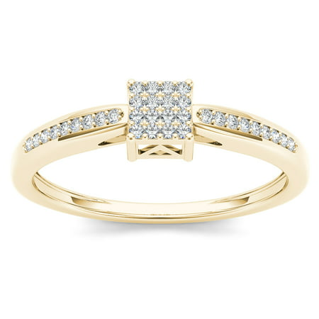 imperial 110ct tdw diamond 10k yellow gold cluster engagement ring - 10k Wedding Ring