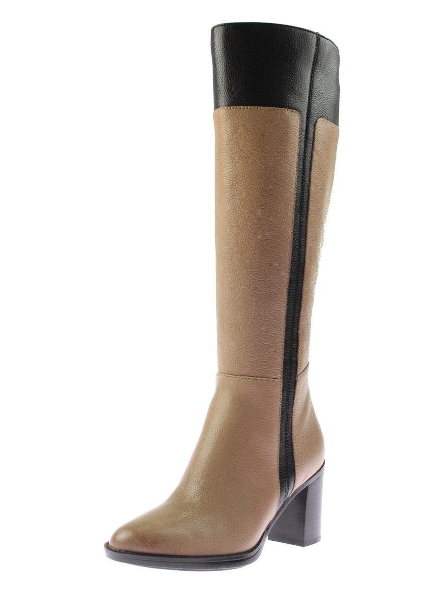 Naturalizer Womens Frances Leather Riding Knee High Riding Leather Boots 54587f