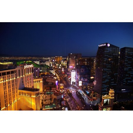 Planet Hollywood, Casinos and Hotels, the Strip, Las Vegas, Nevada Print Wall Art By David (Planet Hollywood Vegas Strip)