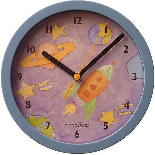 """Bai 8"""" Children's Wall Clock, Rocket"""