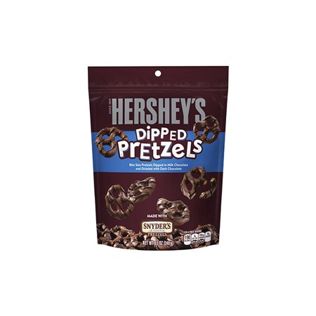 HERSHEY'S Dipped Pretzels, 8.5 oz, 6 Count (Chocolate Dipped Pretzels Halloween)