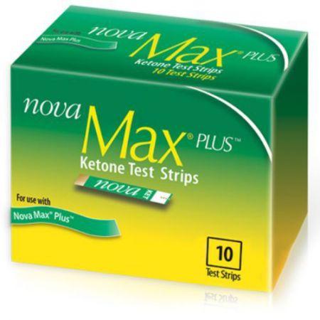 Nova Max Plus Blood Ketone Test Strips  4 Boxes of 10