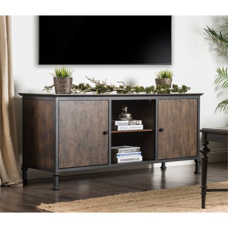 "Furniture of America Ronda 60"" TV Stand in Weathered Oak"