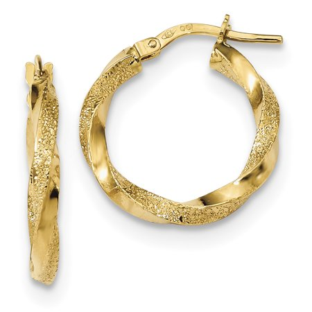 Ice Carats Designer Jewelry Gift Usa 14k Yellow Gold Twisted Hoop Earrings Ear Hoops Set For Women