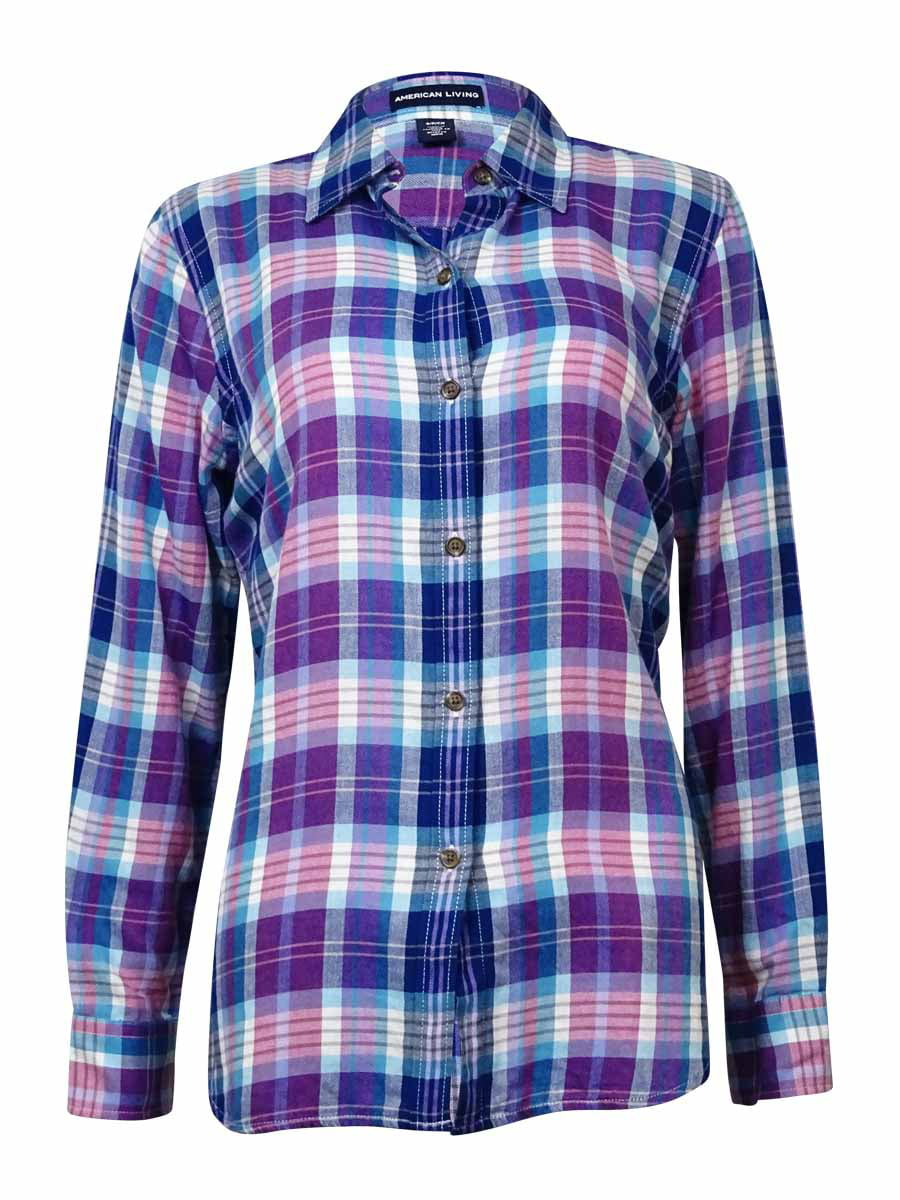 American Living American Living Womens Plaid Button Down Flannel