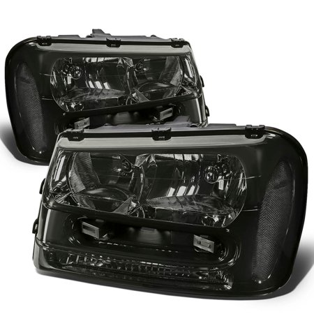 For 2002 to 2009 Chevy Trailblazer EXT Headlight Smoked Housing Clear Corner Headlamps 03 04 05 06 07 08
