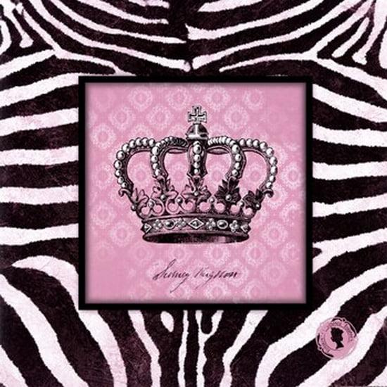 Zebra Crown I Poster Print by Stephanie Marrott (12 x 12)