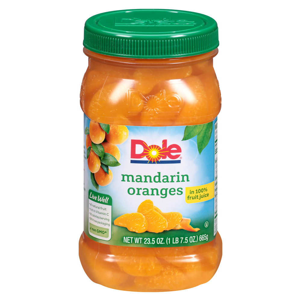Dole Mandarin Oranges In 100% Fruit Juice, 23.5 oz