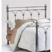 Bernards Athena King Poster Spindle Headboard in Nickel