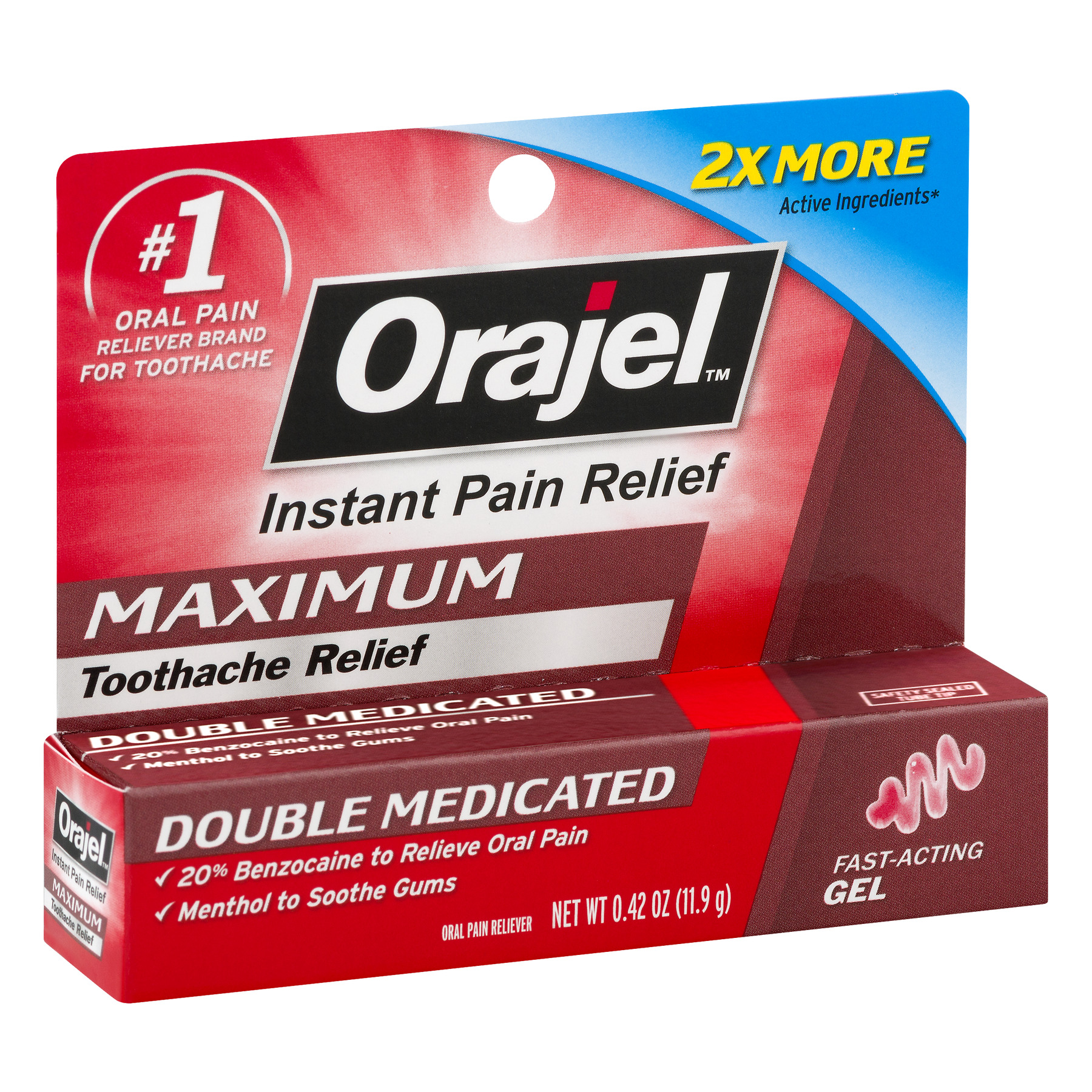 Orajel Maximum Toothache Relief Double Medicated, 0.42 OZ