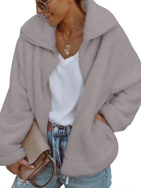 Product Image Womens Zipper Lapel Plush Fur Jacket Short Thick Coat Ladies  Winter Warm Outwear Cardigan Tops 245e3d6f8