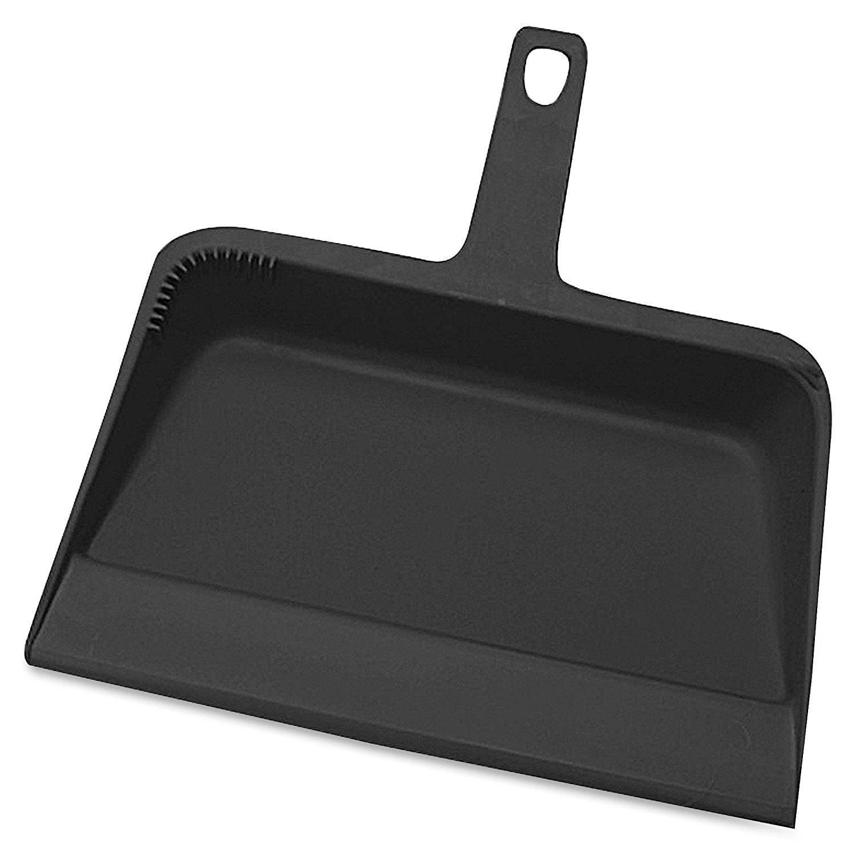 Heavy Duty Dust Pan 12 Wide Plastic Black by