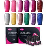 CLAVUZ Gel Nail Polish Kit Soak Off UV LED 12pcs Neon Bling Nail - Best Reviews Guide