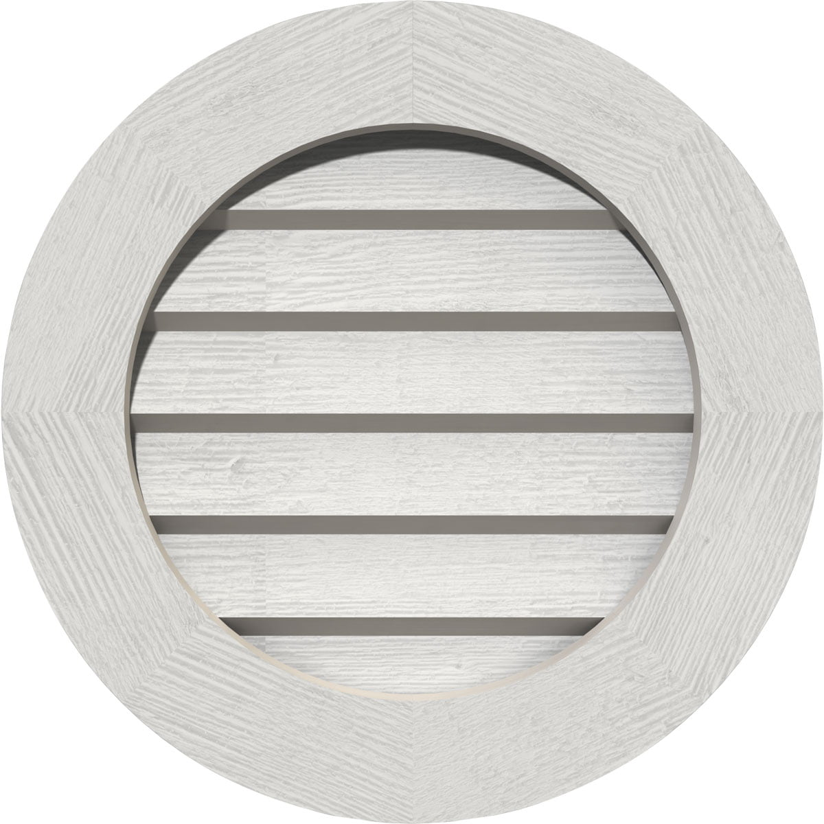 36 W X 36 H Round Gable Vent 41 W X 41 H Frame Size Primed Non Functional Smooth Western Red Cedar Gable Vent W Decorative Face Frame Walmart Com Walmart Com