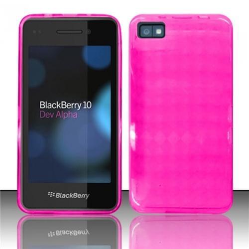 Insten Hot Pink TPU Soft Gel Cover Case For Blackberry 10