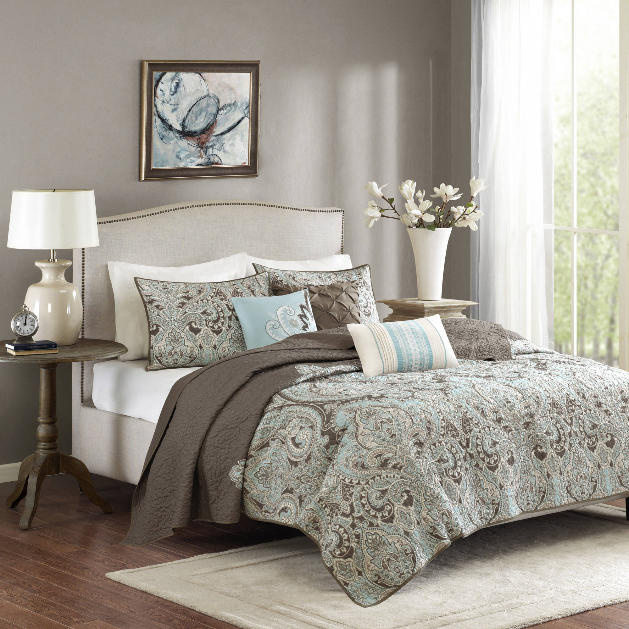 Home Essence Leona Quilted Coverlet Set by E&E Co.