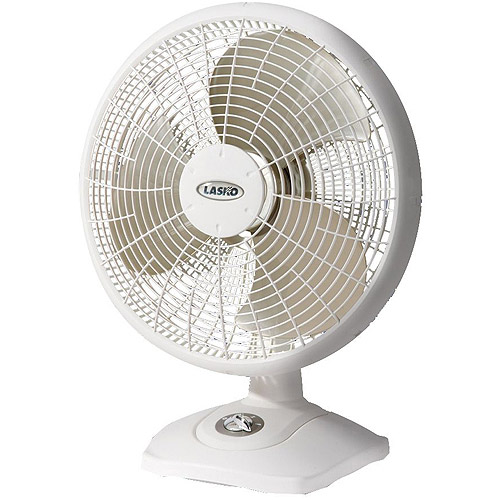 "Lasko Products 16"" Oscillating Table Fan, White  2506LASKO"