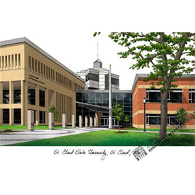 St.  Cloud State Campus Images Lithograph Print