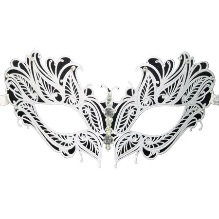 METAL LASER CUT MASK - Venetian - MASQUERADE COSTUMES - White Masquerade Masks For Men