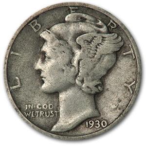 America Mercury Dime (1930-S Mercury Dime Good/VG )