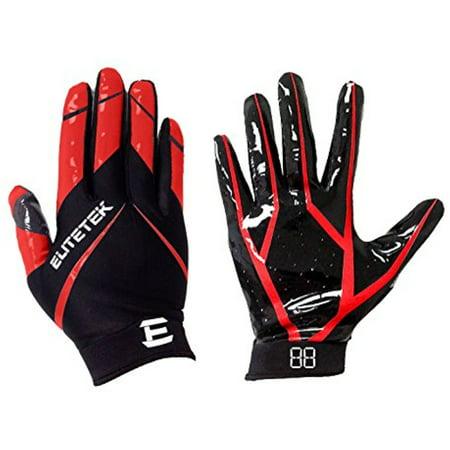 Elitetek Rg 14 Football Gloves Red Youth Large Walmart Com