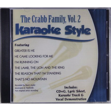 The Crabb Family Volume 2 Daywind Christian Karaoke Style NEW CD+G 6 Songs (Family Friendly Halloween Songs)