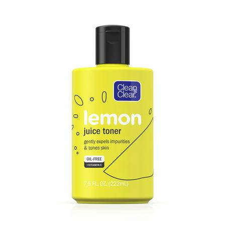 Clean & Clear Alcohol-Free Lemon Juice Facial Toner, 7.5 fl. oz Daily Detoxifying Facial Toner
