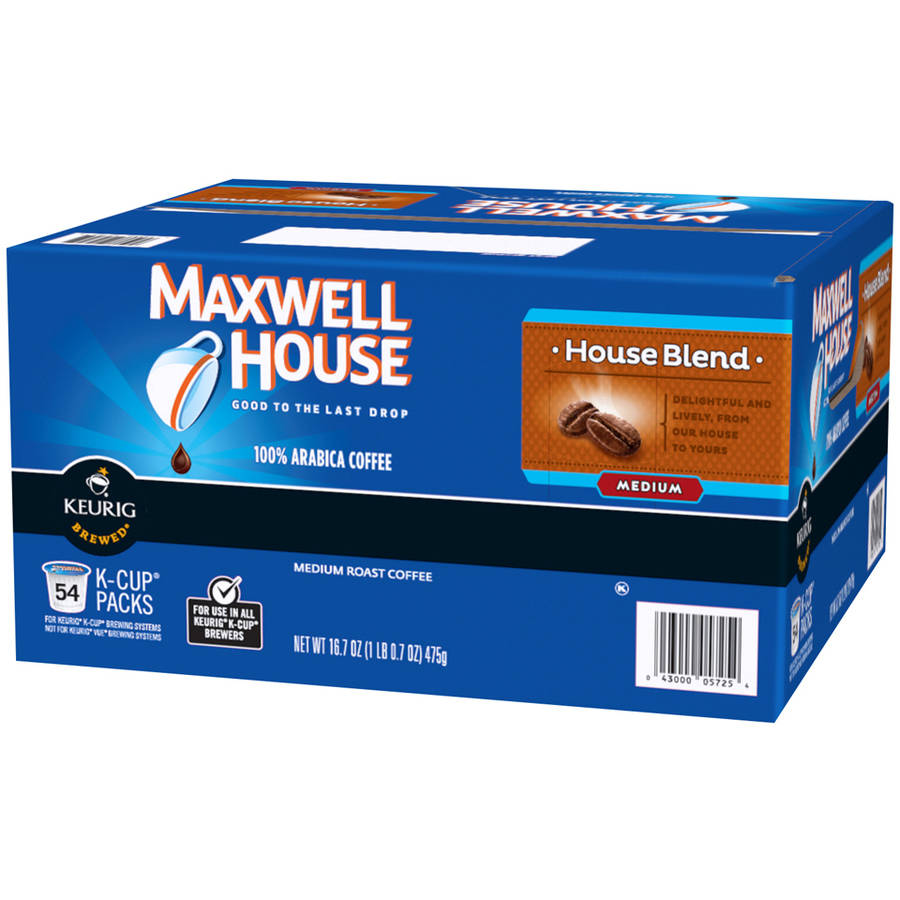 Maxwell House Blend Medium Roast K-Cups Coffee Pods, 54 count, 16,7 oz