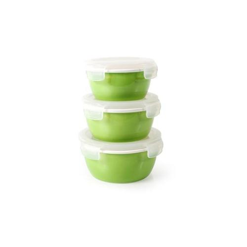 Neoflam 66501 6 Piece Cloc Porcelain Food Storage Set44 Green