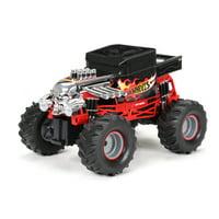 New Bright RC 1:14 Radio Control Hot Wheels Bone Shaker Monster Truck, 2.4 GHz USB - Black