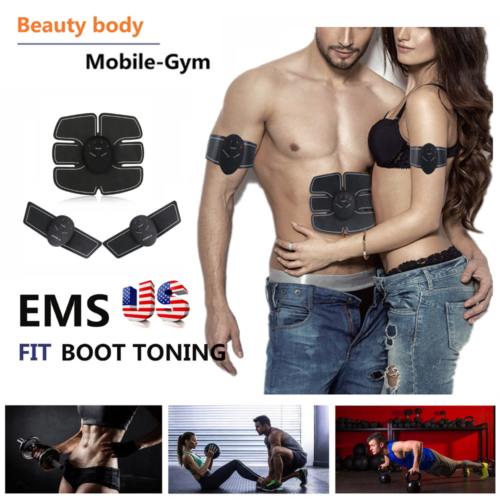 Huppin'sMagic EMS Muscle Training Gear ABS Trainer Fit Body Home Exercise Shape Fitness