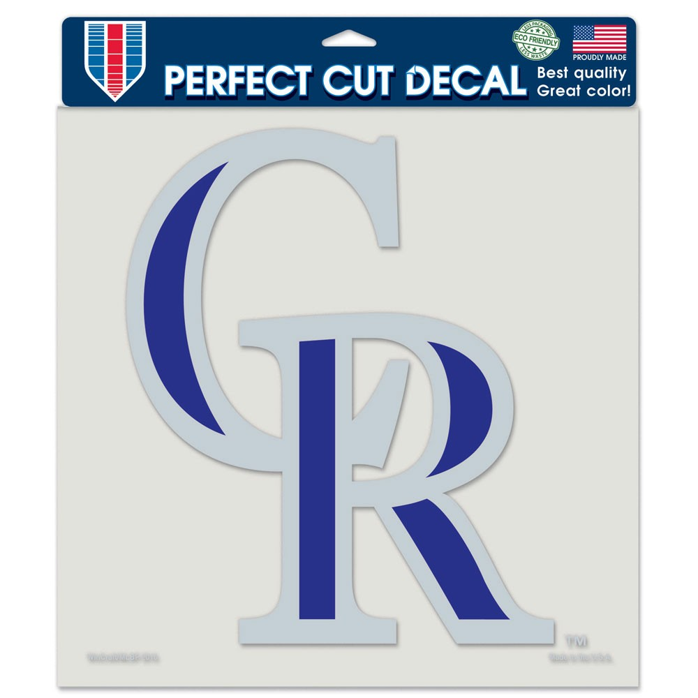 Colorado Rockies Official MLB 8 inch x 8 inch  Die Cut Car Decal by Wincraft