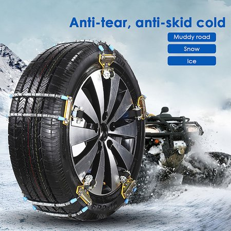 Large/normal Car Universal metal Winter Tyres wheels Snow Chains For Cars/Suv Car-Styling Anti-Skid Autocross Outdoor ()
