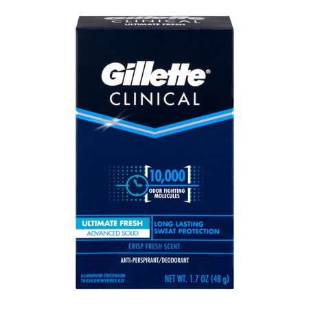 Gillette Endurance Fresh Clinical Advanced Solid Anti Perspirant   Deodorant  1 7 Oz